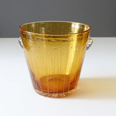 venini-amber-caned-ice-bucket