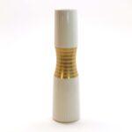 Thomas Porcelain Hourglass Gold White Bud Vase