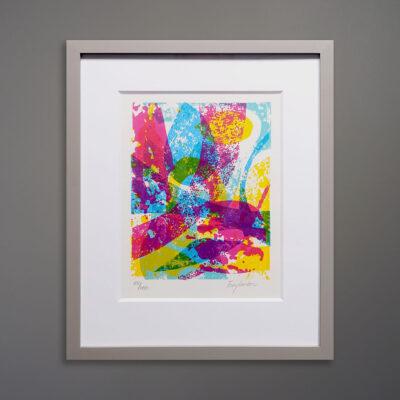 Mid-Century Abstract Silkscreen Print Garboc