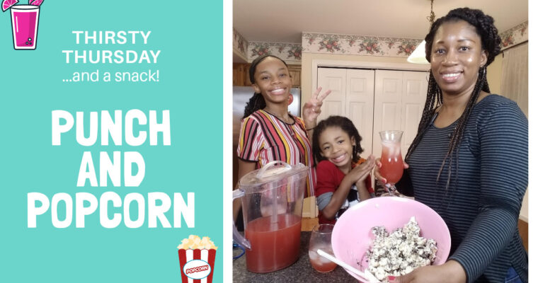 Thirsty Thursday…and a snack! – Cranberry Apple Cider and Cookies and Cream Popcorn