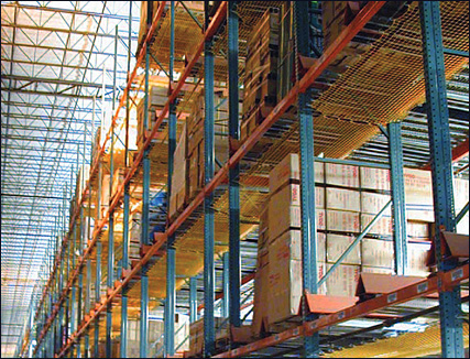 Pallet Rack Systems and Wire Decking