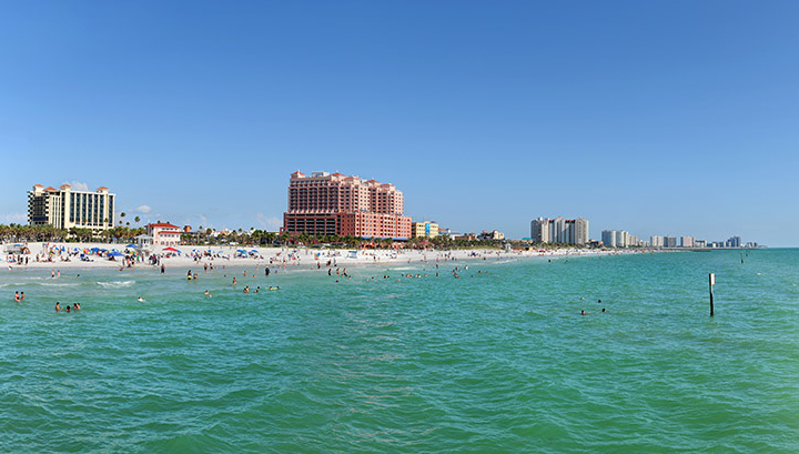 Panoramic view of Clearwater Florida