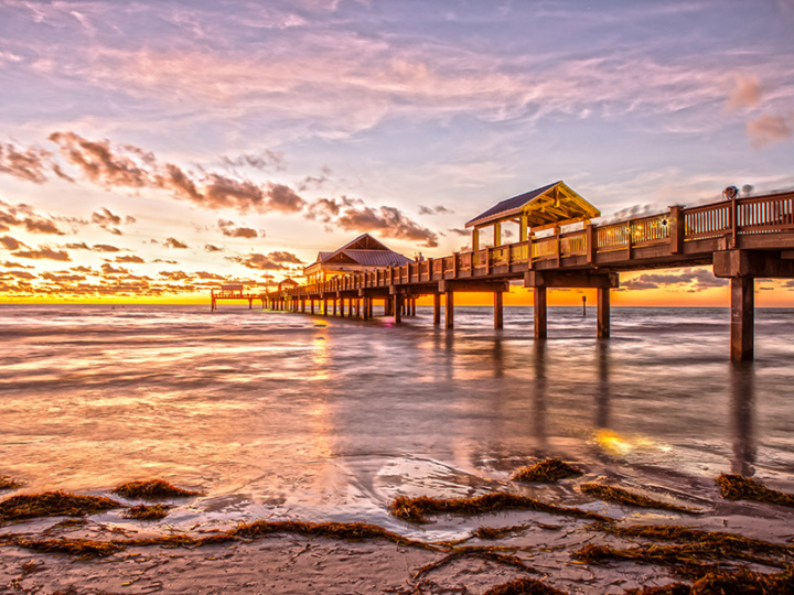 Sunset at Clearwater Beach Pier