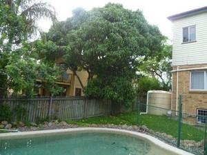 Backyard pool safety fence