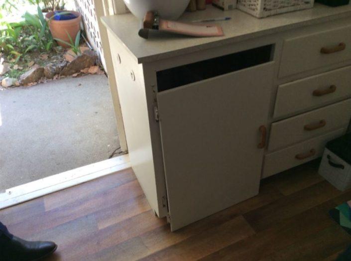 Door off cupboard kitchen