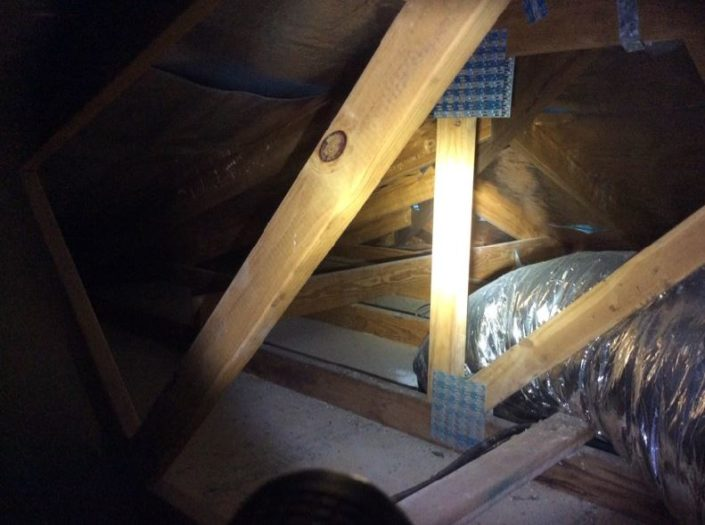 Low inaccessible areas to roof