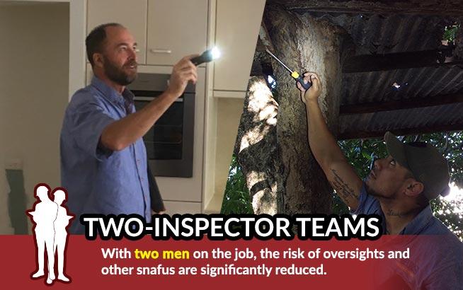 Two-Inspector Teams