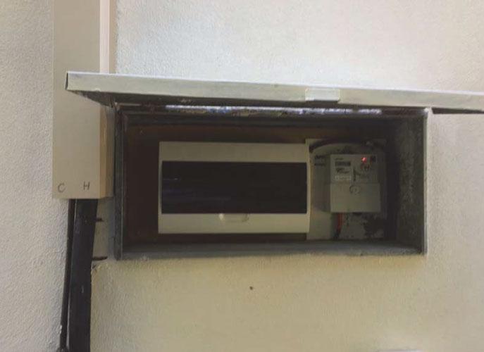 Meter box no sticker