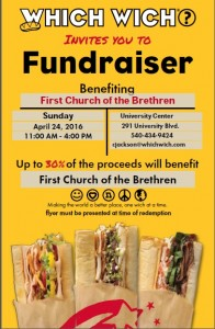 Which Wich FCOB Fundraiser