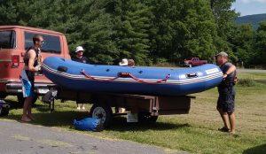 Aaron (L) and Derek (R) Loading Raft