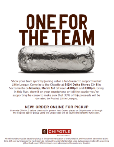 Chipotle Fundraiser 2/2021 Flyer