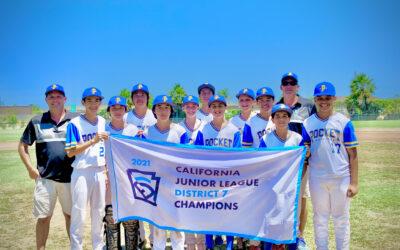 Congratulations 2021 Juniors All-Stars District 7 Champions!!!