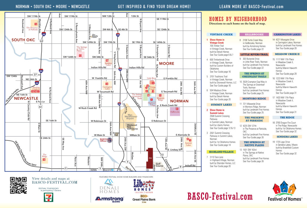 2021 Festival of Homes map Norman