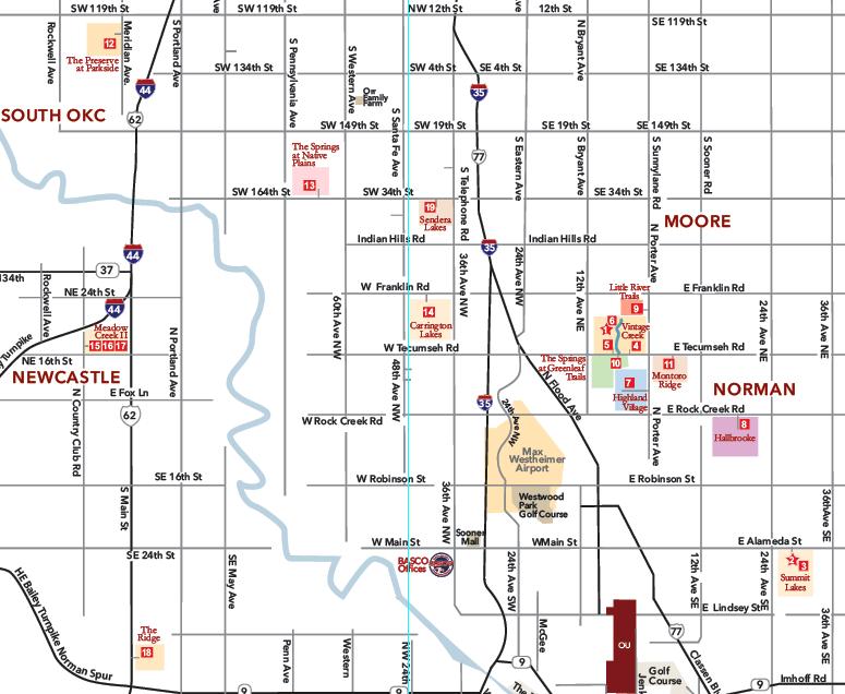 2021 Festival of Homes map