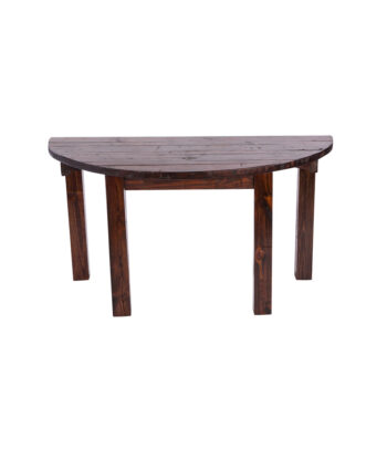 "60"" Mahogany Half Moon Table"