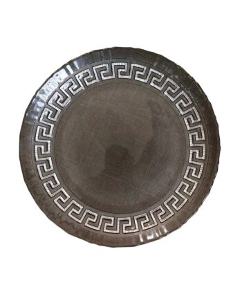 Black Aztec Glass Charger