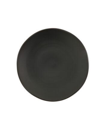 Black Matte China Dinner Plate