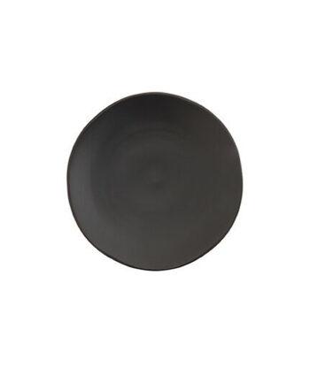 Black Matte China Salad Plate