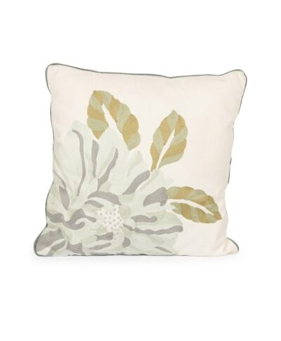 Blue Flower Linen Pillow