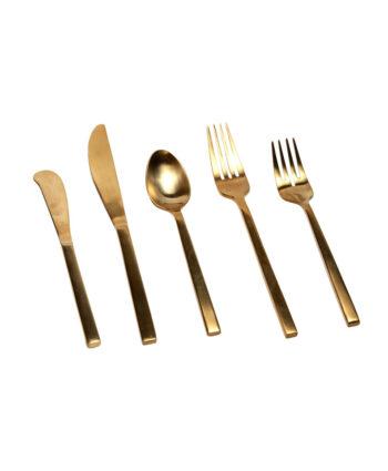 Brushed Gold Flatware