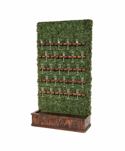 Champagne Hedge Wall - Mahogany Stain Base