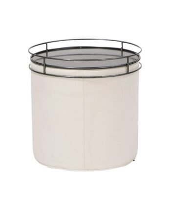 Contempo Round End Table with Cylinder Tray