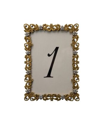 Flaxen Gold Table Number