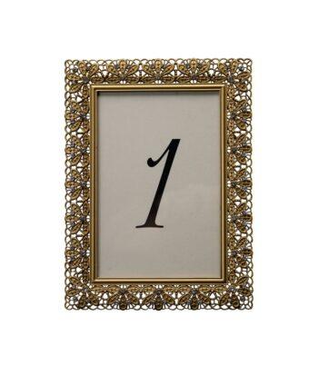 Floradora Gold Table Number