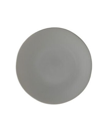 Gray Matte China Dinner Plate