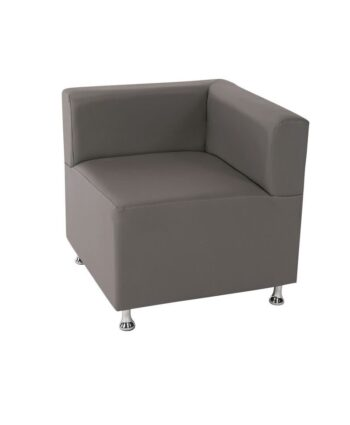 Gray Low Back Mod Furniture Collection Corner Chair