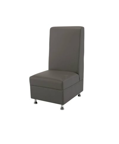 Gray Mod High Back Armless Chair