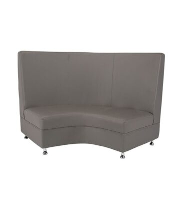 Gray Mod High Back Curved Loveseat