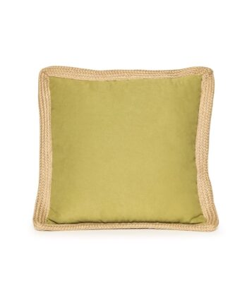 Lime Green Jute Trim Pillow