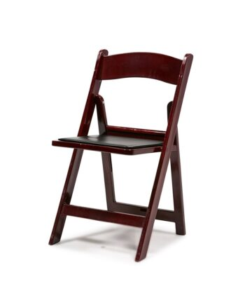 Mahogany Resin Folding Chair