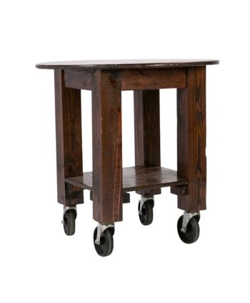 Mahogany Rolling Wood Table