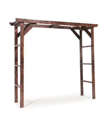 Mahogany Wood Wedding Arch
