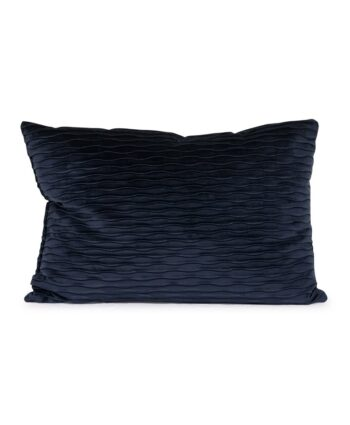 Navy Blue Ripple Pillow