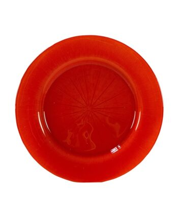 Orange Starburst Glass Charger