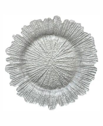 Silver Sea Sponge Glass Charger