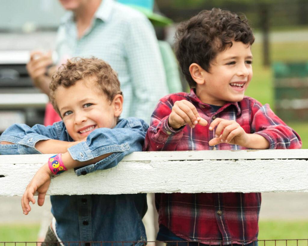 Children enjoying the Foxfield races