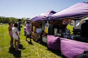 Food stands at Foxfield
