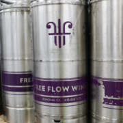Wine in steel kegs for wine on tap systems