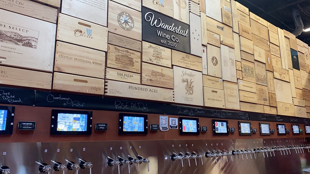 Wine On Tap Self-pour wall