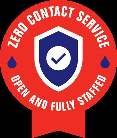 COVID-19 Roto-Rooter Zero Contact Service Badge
