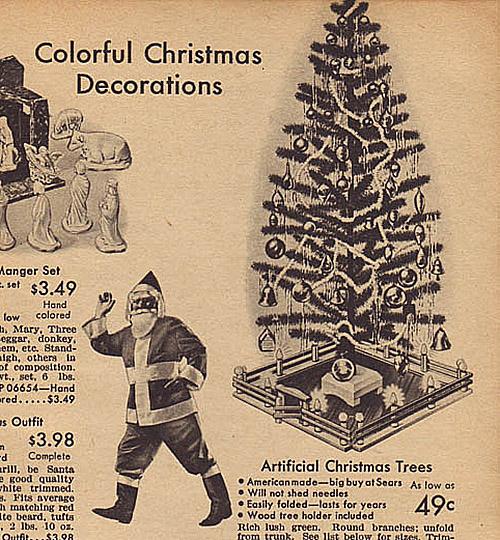 1942 Sears Catalog Artificial Christmas Tree