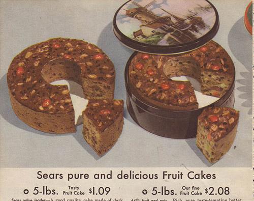 vintage catalog fruitcake