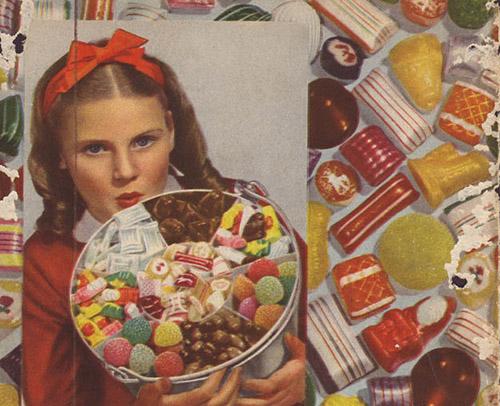 Little girl christmas candy