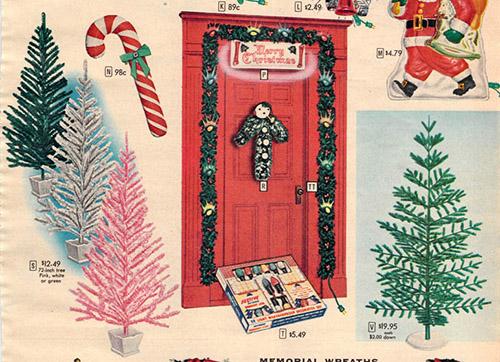 1956 Sears Catalog Artificial Christmas Tree