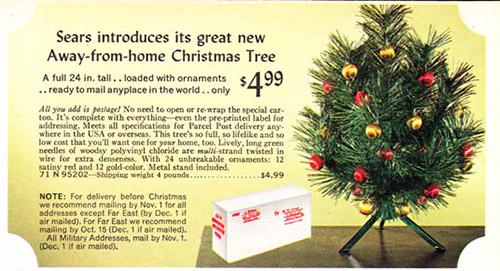 1968 Sears Catalog Artificial Christmas Tree