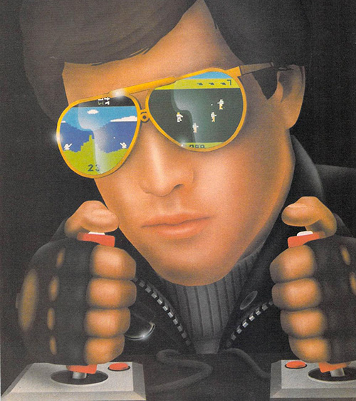 Airbrushed Video Game Art Cool Dude